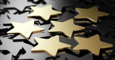 image décorative étoiles or et noir