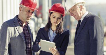 équipe de responsables sur un chantier