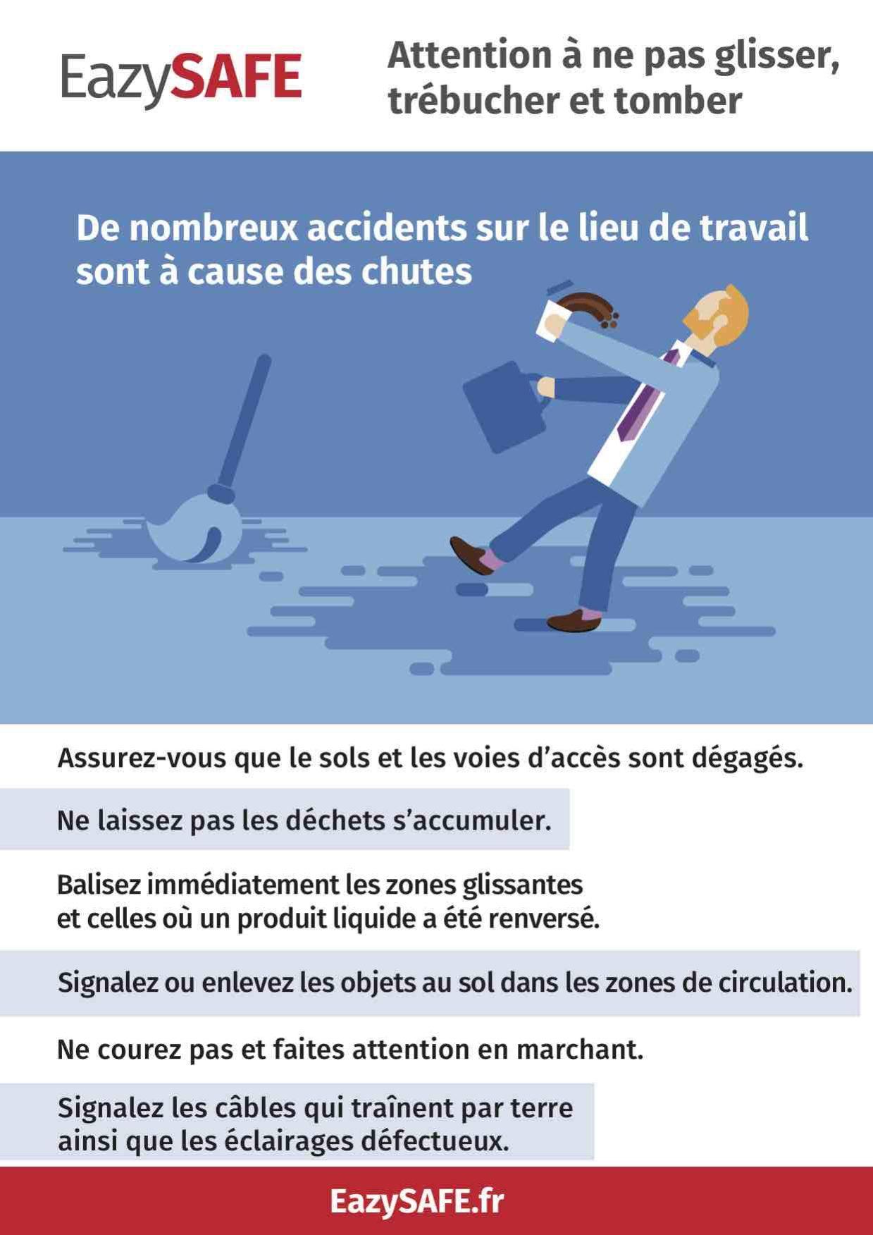 poster accidents chute lieu de travail