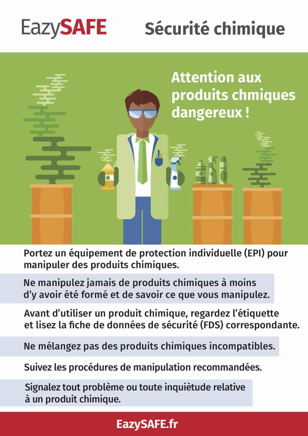poster sécurité chimique