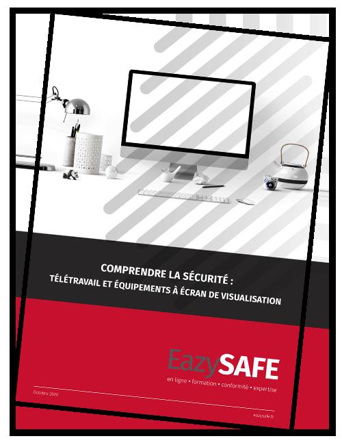 Affiche EazySAFE : Télétravail et équipements à écran de visualisation