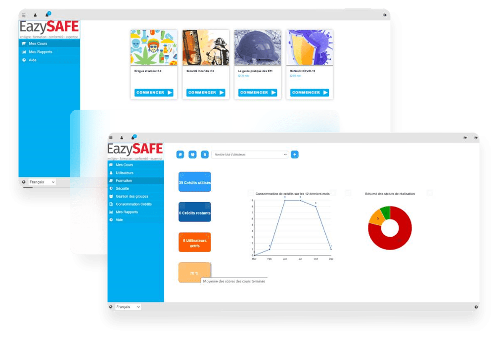 capture d'écran plateforme EasySAFE